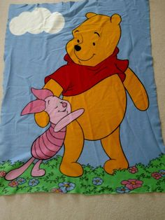 Winnie The Pooh and Piglet Fleece Blanket. Some pilling, zoom for good look. Great for wall hanging. Condition is Pre-owned. Shipped with USPS First Class Package. Organic Baby Clothes, Unisex Baby Clothes, Winnie The Pooh Blanket, Newborn Tieback, Boho Baby, Newborn Gifts, Baby Shower Gifts, Disney Characters, Wall