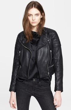 Burberry+Brit+'Kirtslane'+Lambskin+Leather+Jacket+available+at+#Nordstrom
