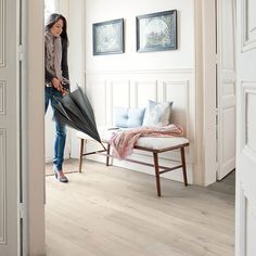 Waterproof flooring. Quick-Step Impressive Ultra Soft Oak Light IMU1854 (12mm)
