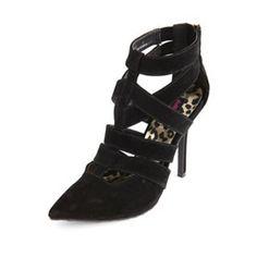 3d2437af69 CAGED ZIP-BACK SINGLE SOLE PUMP High Heels Stilettos