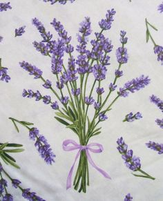 Lavender Sprigs Ribbon Summer Flower by AliceInStitchesArts, $10.50