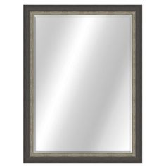 Living-Designs Rustic Beveled Accent Mirror Size: x Finish: Black/Silver Rectangular Bathroom Mirror, Round Wall Mirror, Mirror Set, Modern Contemporary Bathrooms, Contemporary Wall Mirrors, Austrian Pine, White Vanity Mirror, Leaning Mirror, Cheval Mirror