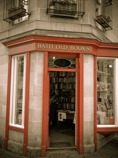 I love book stores... Bath, England. I would love to own a bookstore like this.