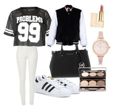 """sporty but cute"" by christellekay on Polyvore featuring adidas, River Island, Tory Burch and N°21"