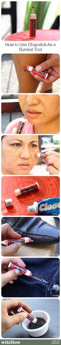 Otros usos del humectante labial.