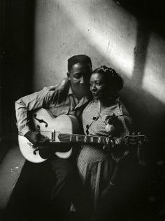 Muddy Waters and his wife Geneva. Photograph by Art Shay. circa. 1951