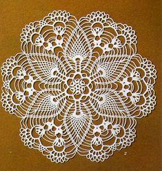 Home Decor Crochet Patterns Part 150 - Beautiful Crochet Patterns and Knitting Patterns Crochet Doily Diagram, Crochet Doily Patterns, Crochet Mandala, Thread Crochet, Crochet Scarves, Crochet Crafts, Crochet Doilies, Crochet Lace, Crochet Stitches