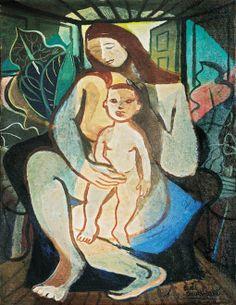 site http://peregrinacultural.wordpress.com/  aqui: Di Cavalcanti, Maternidade,ost, (década de 1950)65,5 x 50 cm