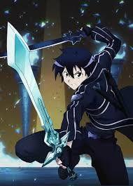 Kirito o kirigaya kazuto es un joven que termina atrapado dentro de un juego de roll el tiene que completar todas las misiones del juego para poder liberarse de el