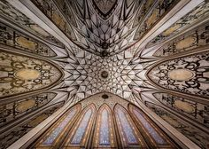 Iranian photographer Mohammad Reza Domiri Ganji captures architectural treasures that can offer the ceilings of worship places or different buildings in Iran. City Architecture, Architecture Interiors, Islamic Architecture, Iranian, Ceiling Design, Historic Homes, Islamic Art, The Incredibles, Pictures