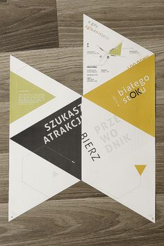 Bialystok clubs - folding leaflet by Michał Kulesza, via Behance