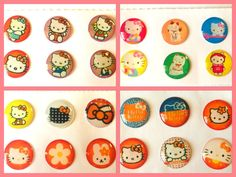 24x Cute Kitty Home Button Stickers for iPhone/iPad/iPod (4 packs) iPhone6 5 4