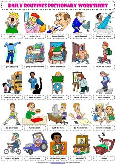 English Vocabulary - daily routines -  Inglés