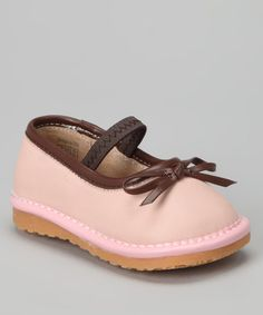 Take a look at this Pink Bow Squeaker Flat by littlebluelamb squeaky shoes on #zulily today!