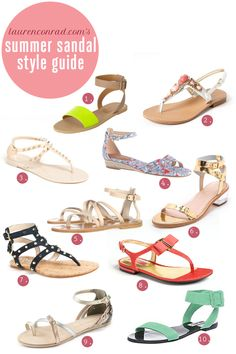 Style Guide: 10 Chic Summer Sandals - Of course my top 3 picks are each over $200!!
