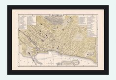 Old Map of Montreal, Canada 1894 Vintage map - product image