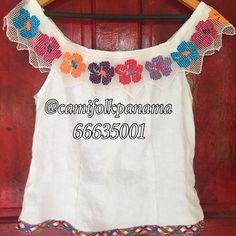 Hermosa blusa típica estilizada #hechoamano #panamafolkdress #mundillopapiado
