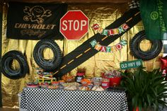 Car themed food station.