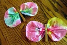 Spring Childrens Craft: Coffee Filter Butterflies