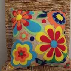 Shop Felt Flower Pillow on Wanelo