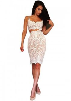 Lace Cami Top and Lace Skirt Outfit$22.99 https://www.maxfancy.com/dresses/Maxi-and-Skater-Skirt-Outfits/Lace-Cami-Top-and-Lace-Skirt-MFPLM4399