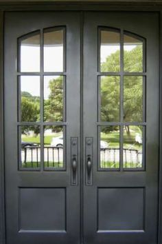 - - Add a timeless touch to your entryway with these iron front doors by Clark Hall. Designed with a grand arch and curved glass, these custom front entry doors fit every style. Double Front Entry Doors, Iron Front Door, Wood Entry Doors, Front Door Entrance, Iron Doors, Indoor Outdoor, French Doors Patio, Front Door Design, The Ranch