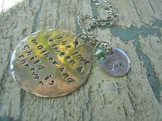 Hand Stamped Jewelry  Hand Stamped A Mothers by KottageKreations, $39.00