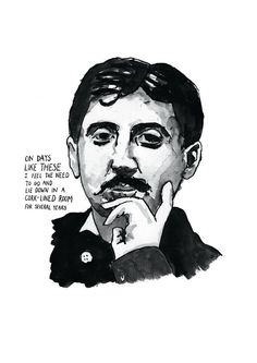 Marcel Proust poster print Great Writers by StandardDesigns, £12.50
