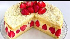 """Торт """"Фрезье"""" / Клубничный торт с нежнейшим кремом https://www.youtube.com/watch?v=SL9a0ngXHv8 Французский десерт """"Фрезье"""" .Бисквитный торт с кремом """"му... - Bon Appetit - Google+"""