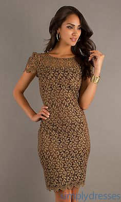 Short Lace Dress at SimplyDresses.com