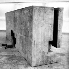 Eduardo Chillida - sculpture or architecture? Concrete Sculpture, Concrete Art, Abstract Sculpture, Sculpture Art, Abstract Art, Land Art, Contemporary Sculpture, Contemporary Art, Art Object