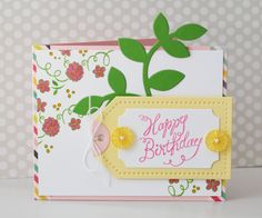 Erin: Great Impressions Stamps | Floral Happy Birthday
