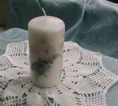 """Stumpen Kerze """"Rosen"""" von Belinda auf DaWanda.com"""