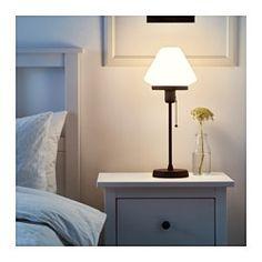 IKEA - ÄLVÄNGEN, Table lamp with LED bulb, Creates a soft, cozy mood light in…