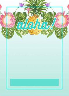 Flat Floral - Free Printable Birthday Invitation Template ...