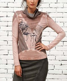 Another great find on #zulily! Blush Abstract Panel Top by Angels Never Die #zulilyfinds