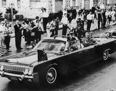 The Presidential motorcade with Texas governor John Connally, first lady Jackie Kennedy and President John F. Kennedy on November 21, 1963 in San Antonio, Texas, the day before John F. Kennedy, 35th President of the United States, was assassinated