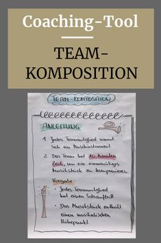 """Andrea Schlösser presents the group dynamic intervention """"team composition"""", Systemisches Coaching, Kindergarten Lesson Plans, Workshop, Coach Me, Music Lessons, Online Marketing, Therapy, Template, Train"""