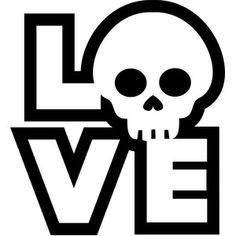 Silhouette Design Store: skull love
