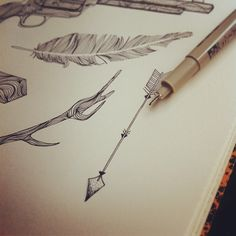 arrow illustration pen and ink