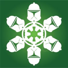 Clone 1  | Star Wars SnowFlakes | more here by Chaunce Dolan: http://mattersofgrey.com/diy-star-wars-snowflakes/  ... & more here by Anthony Herrera: http://anthonyherreradesigns.com/