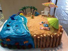 21+ Awesome Image of Beach Birthday Cakes Beach Birthday Cakes Beach Birthday Cake Beach Cakes And More Pinte  #PictureOfBirthdayCake