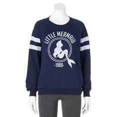 Women's Disney Little Mermaid Ariel Sweatshirt Sweater Pullover Top Shirt Jumper #Disney #SweatshirtCrew