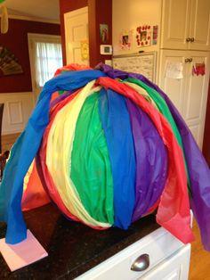 Rainbow central piece ball
