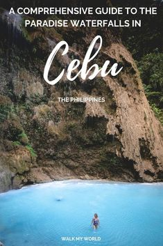 A comprehensive guide to the Cebu Waterfalls: the most beautiful the quietest the best for adventure and how to get there what to expect and how much they cost. Philippines Travel Guide, Visit Philippines, Phillipines Travel, Palawan, Cool Places To Visit, Places To Travel, Amazing Destinations, Travel Destinations, Koh Lanta Thailand