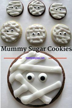 Mummy Sugar Cookies-