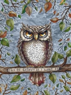 'Owl Be Grumpy…' by Jo Cane