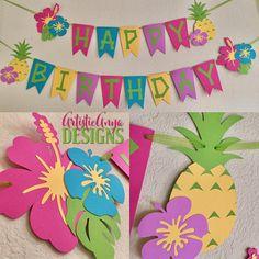 Hawaiian Banner Moana Themed Birthday Luau Decorations