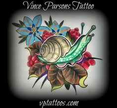 Colour snail drawing by Vince. Vince is available for tattoos and consultations at Pharaoh Tattoo Studio, 575 Lawrence ave, Kelowna BC, Tuesday to Saturday, from 11am to 5pm. All tattoo appointments require a cash deposit. Stop by the shop, or call 778-478-9367 to inquire about availability. Check out Vince on Facebook at: https://www.facebook.com/vince.parsons.1 Or his website at: vptattoos.com Or our Google + page: https://plus.google.com/106219231703216001907/posts?hl=en