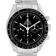 Omega Speedmaster automaticselfwind black mens Watch 35705000 Certified Preowned *** You can get additional details at the image link.